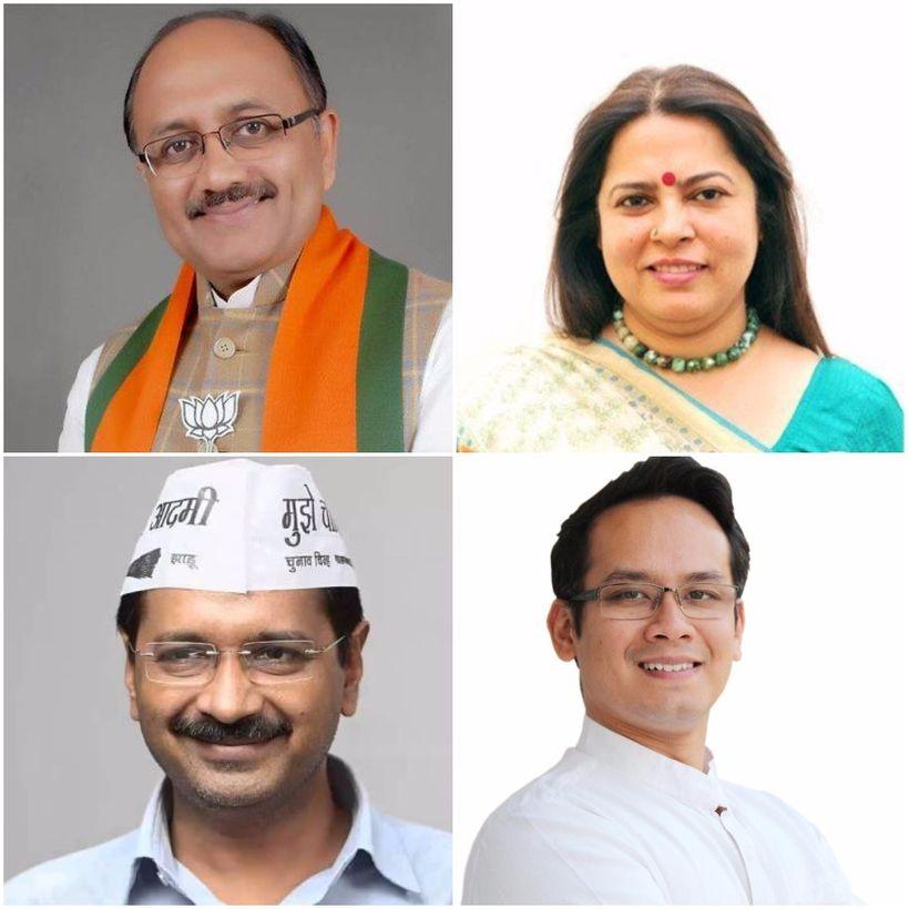 (Clockwise) Mr. Siddharth Nath Singh, Mrs. Meenakshi Lekhi, Mr. Gaurav Gogoi, Mr. Arvind Kejriwal