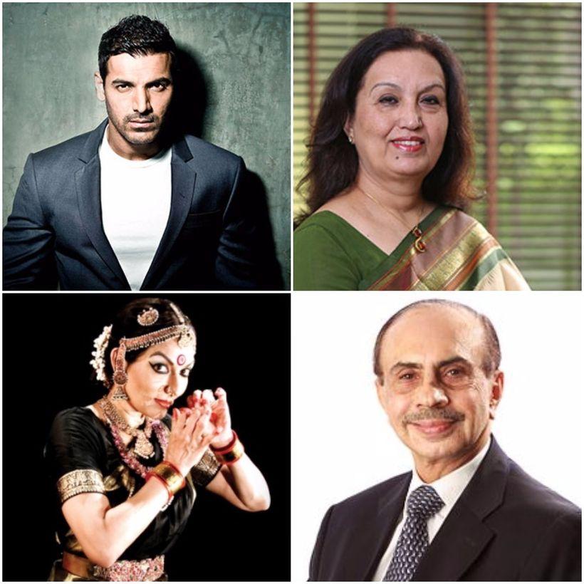 (Clockwise) Mr. John Abraham, Ms. Mohini Daljit Singh, Mr. Adi Godrej, Ms. Mallika Sarabhai