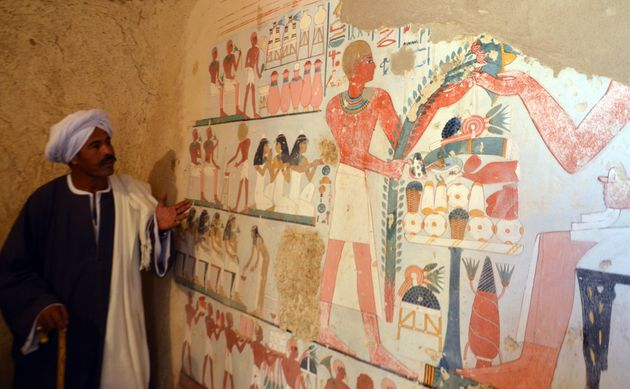 3500 Year Old Mummy And Beautiful Wall Mural Discovered In