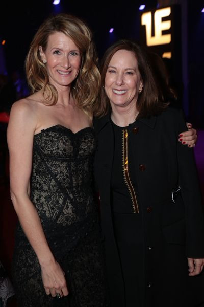 Laura Dern and Kathleen Kennedy attend the after party for the world premiere of <em>Star Wars: The Last Jedi</em>