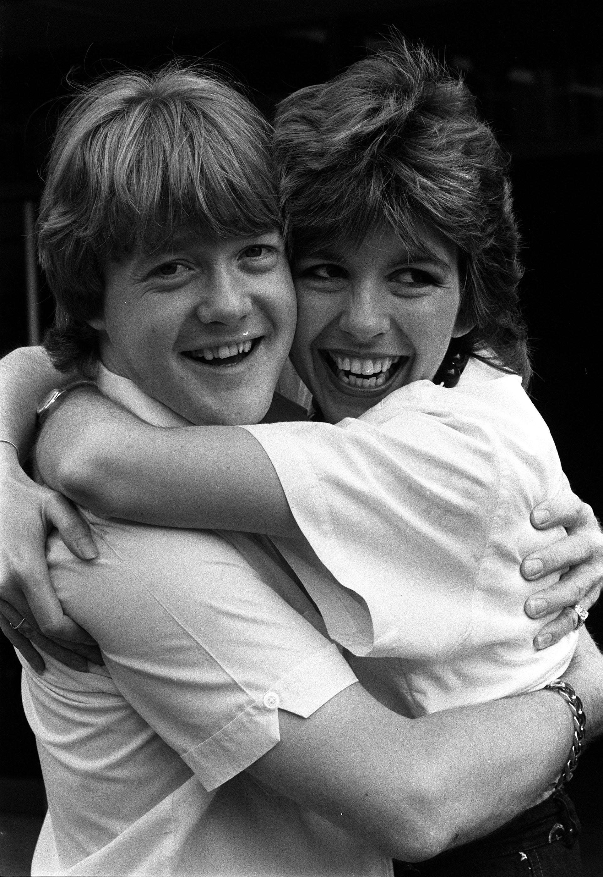 Keith Chegwin and Maggie Philbin in