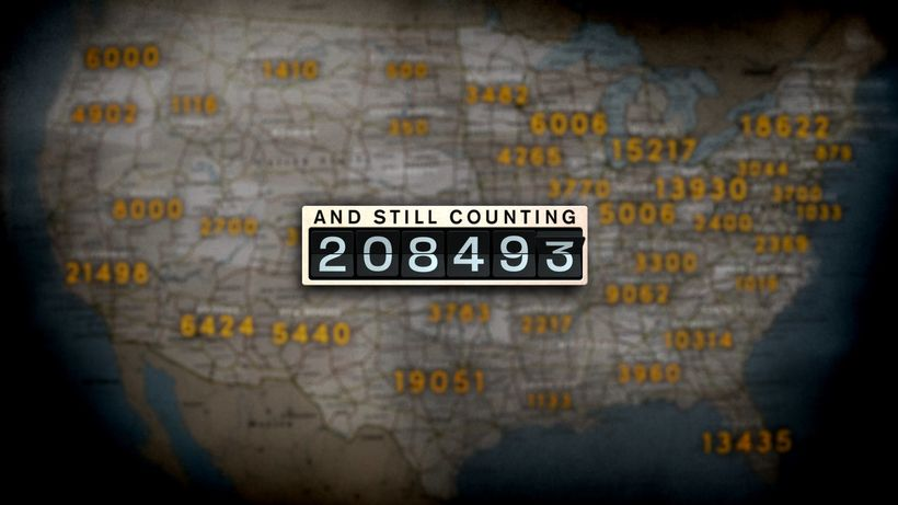 Number of untested rape kits in the USA