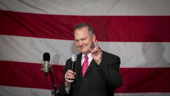 Roy Moore, Republican candidate for U.S. Senate from Alabama, speaks during a campaign rally in Fairhope, Alabama, U.S., on Tuesday, Dec. 5, 2017. Senate Majority Leader Mitch McConnell said Moore can expect to face an ethics investigation if the Republican Senate candidate wins next week's special election in Alabama. Photographer: Nicole Craine/Bloomberg via Getty Images