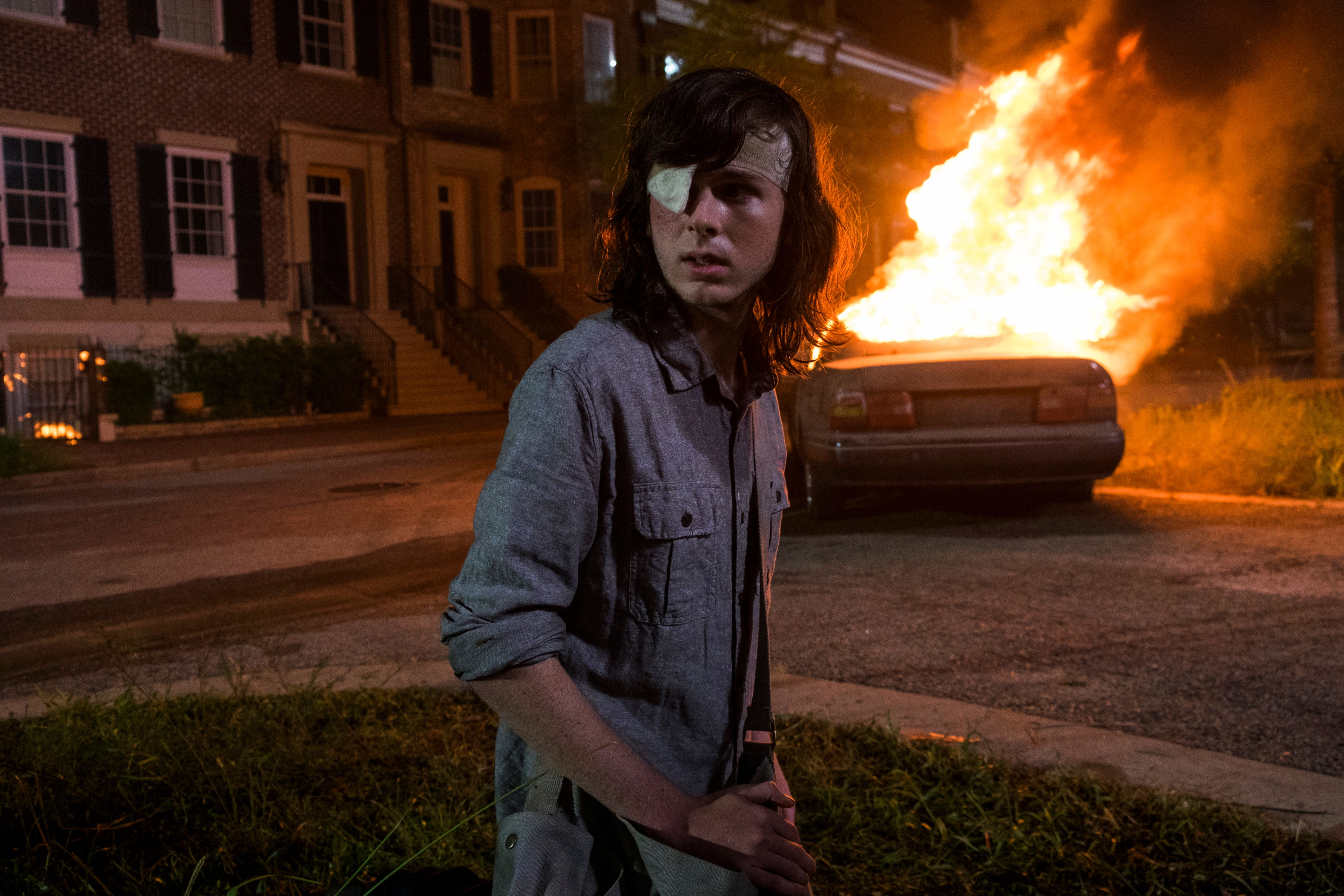 """Chandler Riggs as Carl Grimes on """"The Walking Dead."""""""