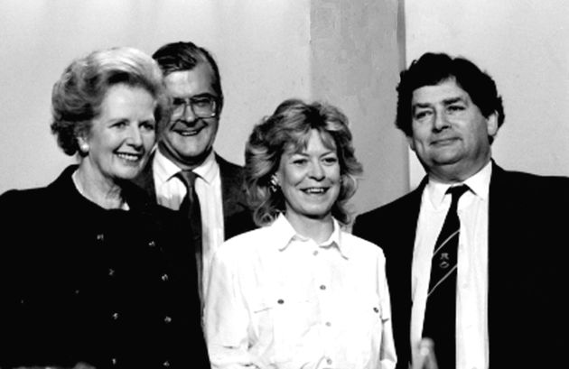 Margaret Thatcher and Nigel Lawson in their