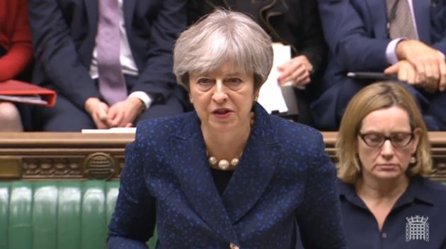 Theresa May delivers her Commons