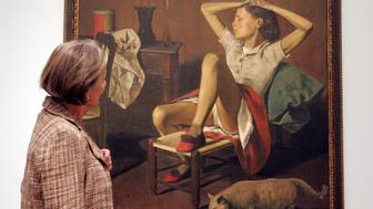 (GERMANY OUT) Germany, Cologne, Museum Ludwig: exhibition 'Balthus - Time Suspended. Paintings and Drawings 1932 to 1960 - (Balthasar Klossowski) - painting 'Thérèse revant' ' ('dreaming Therese') (Photo by Brill/ullstein bild via Getty Images)