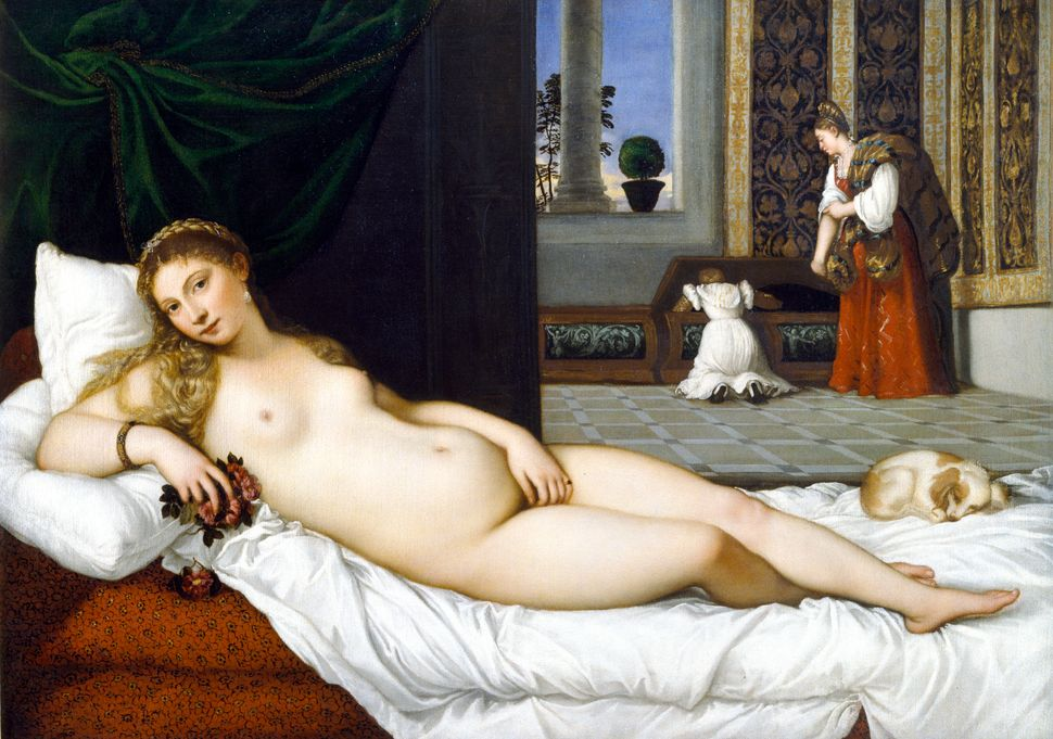 "Titian's ""Venus of Urbino,"" made in 1538."