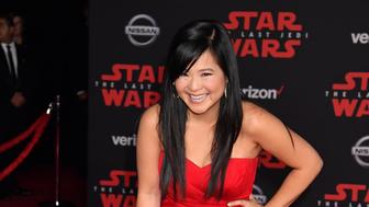 LOS ANGELES, CA - DECEMBER 09:  Kelly Marie Tran attends the premiere of Disney Pictures and Lucasfilm's 'Star Wars: The Last Jedi' at The Shrine Auditorium on December 9, 2017 in Los Angeles, California.  (Photo by Jeff Kravitz/FilmMagic)