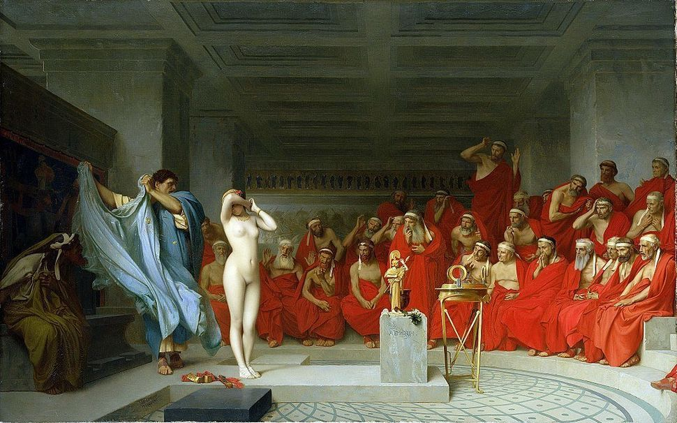 "Jean-Léon Gérôme, ""Phryne before the Areopagus,"" 1861."