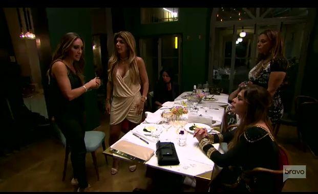 Scene from an Italian restaurant in tonight's episode