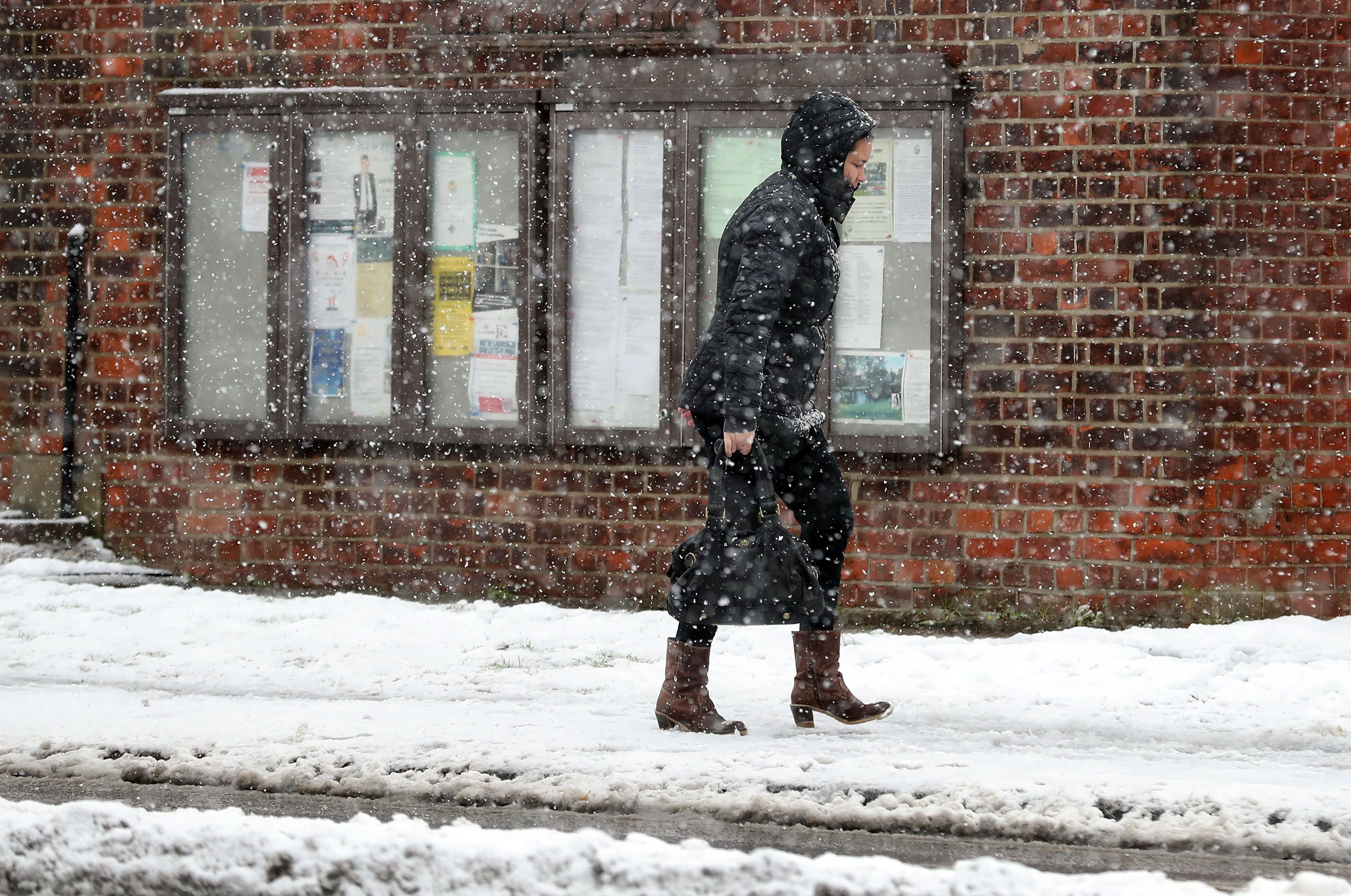 Commuters Face Another Day Of Pain After Britain Experiences The Coldest Night Of The