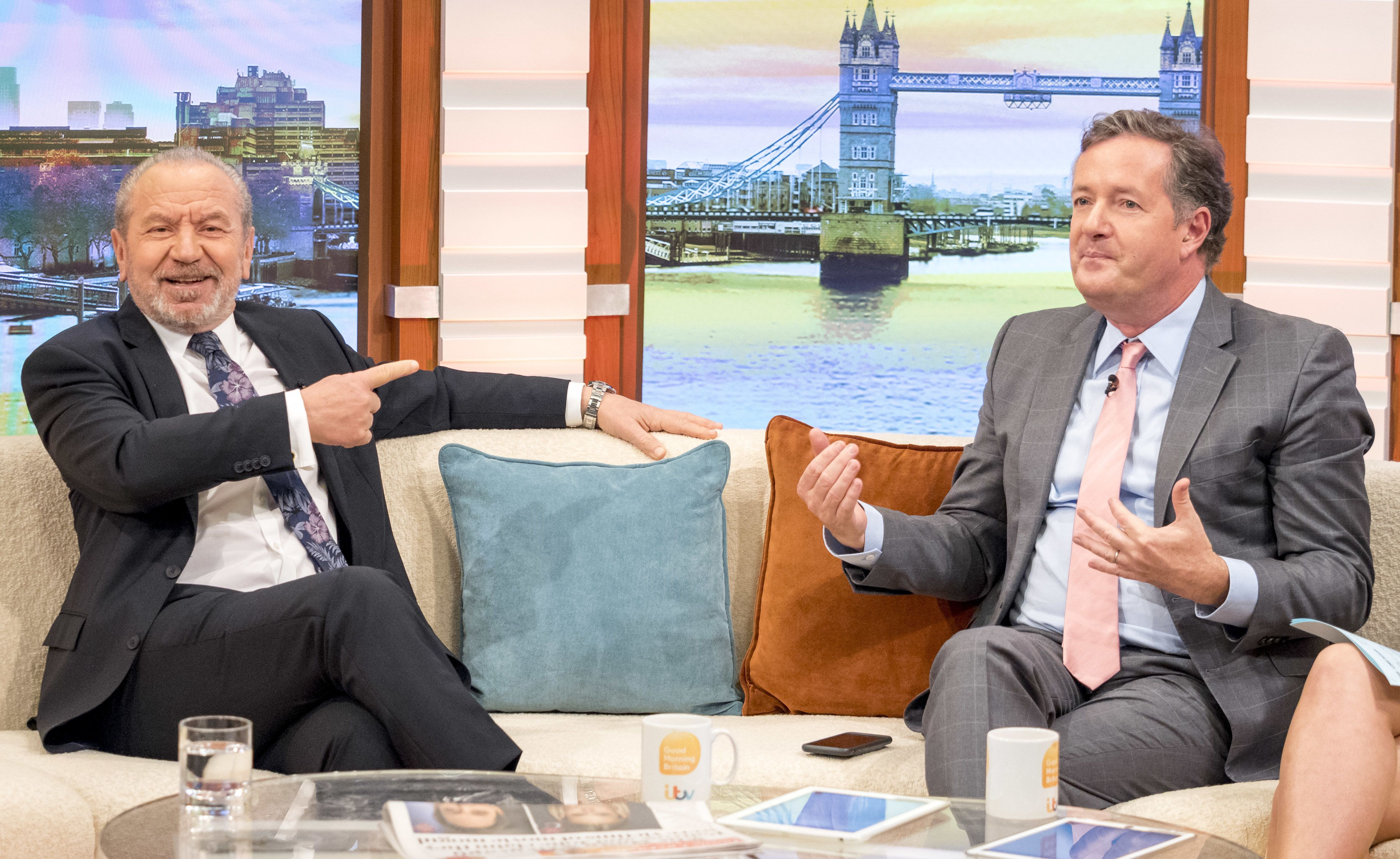 Piers Morgan Concedes Defeats To Old Foe Lord Sugar After Weight Loss