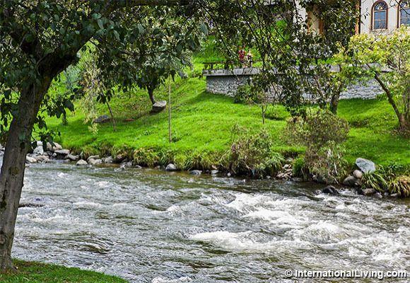 Tomebamba river, Cuenca, Ecuador.