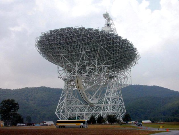 Green Bank: A radio telescope so massive the Statue of Liberty, including the pedestal, could lie down...