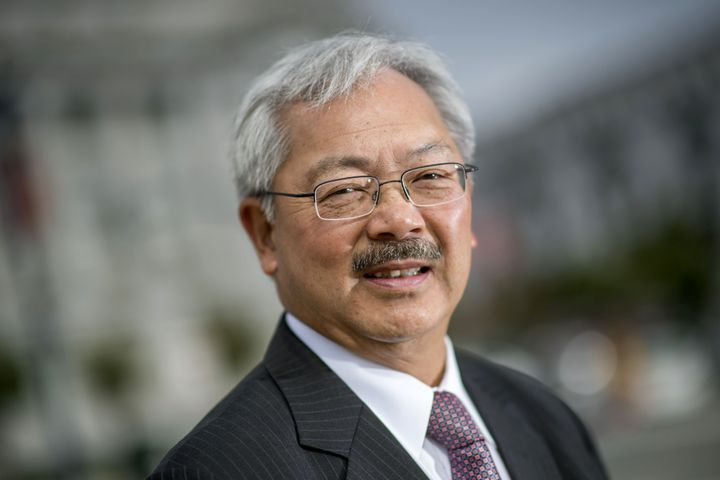 San Francisco Mayor Ed Lee stands for a photograph on Aug. 17, 2016. Lee died Tuesday.