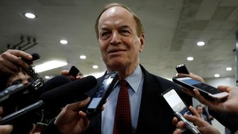 Sen. Richard Shelby speaks with reporters ahead of votes on Capitol Hill in Washington, U.S., December 6, 2017. REUTERS/Aaron P. Bernstein