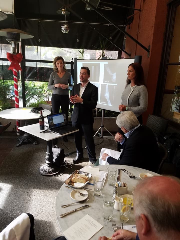 JB giving the investors the executive rundown with Sabine Ohly, CEO, and Jeanie Wentworth of Herohl.com, a nutritional joint