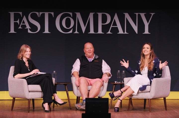 Amy Farley, Mario Batali and Jessica Alba at the Fast Company Innovation Festival on Oct. 25.