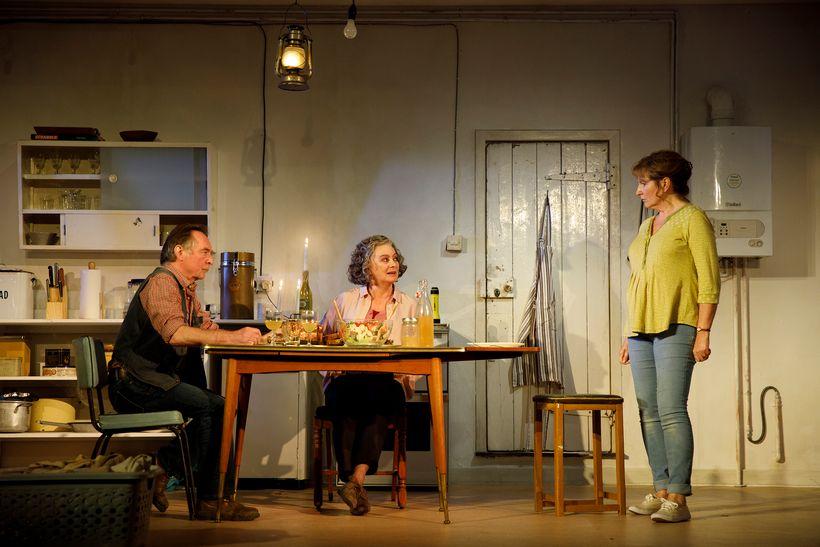Ron Cook, Francesca Annis and Deborah Findlay in Lucy Kirkwood's <em>The Children</em>