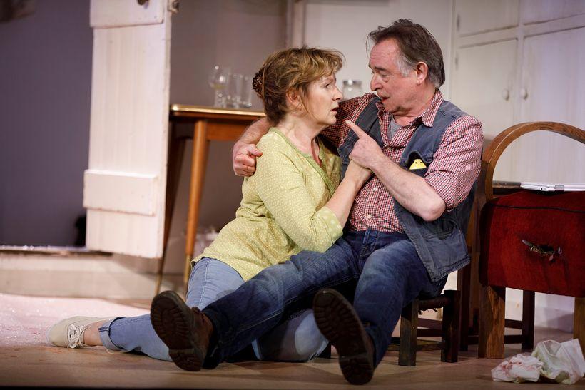 Deborah Findlay and Ron Cook in Lucy Kirkwood's <em>The Children</em>