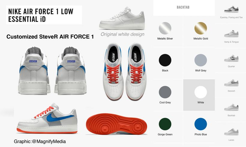 Nike AIR FORCE 1 - Customized with graphics and colors