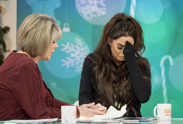 Katie Price Escorted Off 'Loose Women' After Breaking Down In Tears During Chat About Mum's Terminal