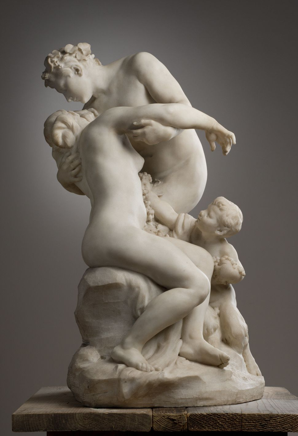 "Jules Dalou, ""Bacchus and Ariadne,"" 1894. Marble, 32 1/4 × 21 × 21 1/8 in.  Clark Art Institute, 1996.3"
