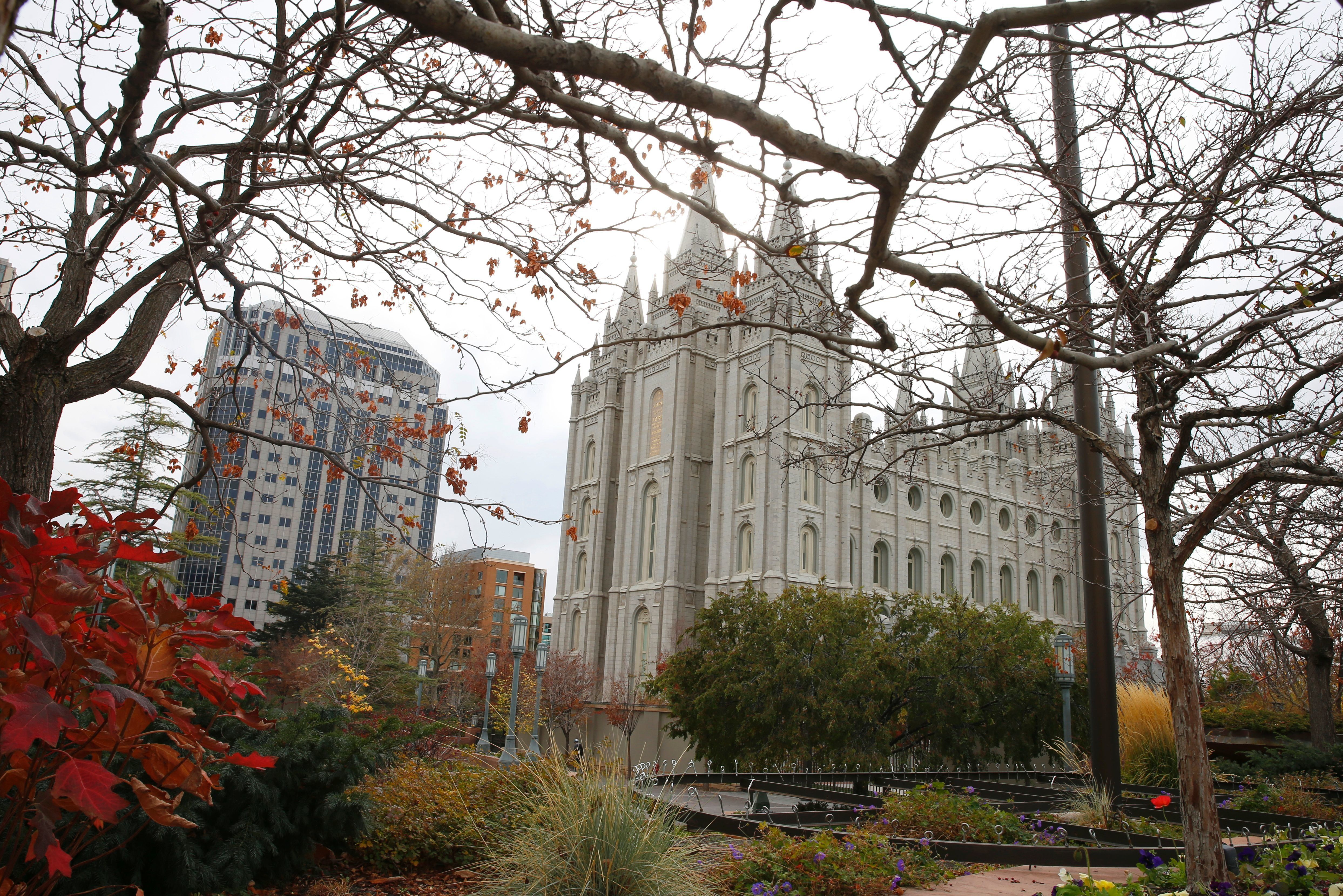 The historic Salt Lake Mormon Temple is shown here on Temple Square on November 1, 2016 in Salt Lake City, Utah. Polls show US Independent presidential candidate, Evan McMullin, in a tie with US Republican presidential candidate Donald Trump in the State of Utah. Mormons could play a deciding roll in McMullin's success. / AFP / GEORGE FREY        (Photo credit should read GEORGE FREY/AFP/Getty Images)