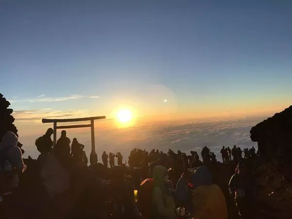 Sunrise from the top of Japan, Mount Fuji