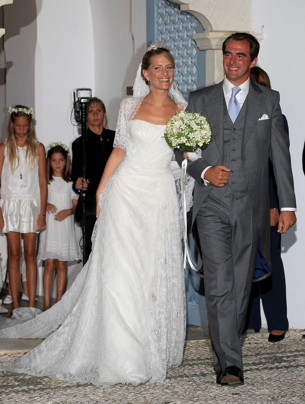 Tatiana Blatnik wore a beautiful gown with a Chantilly lace overlay and matching bolero for her wedding in 2010. She also wor