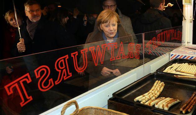 Merkel an einem