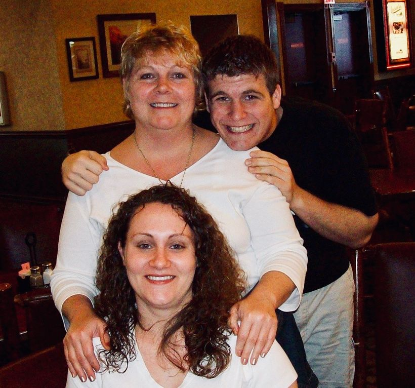 Deana with her two children, Amanda and Logan.