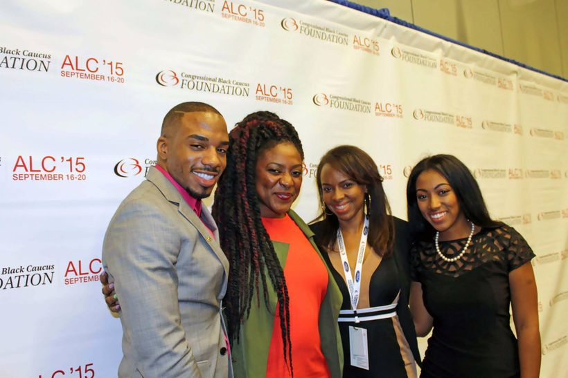 Marc Banks at the 2015 Annual Legislative Conference. Left to right: Marc Banks, Alicia Garza, co-founder of Black Lives Matt