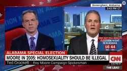 Roy Moore's Spokesman Gets Awkward Fact Check On US Constitution In Live