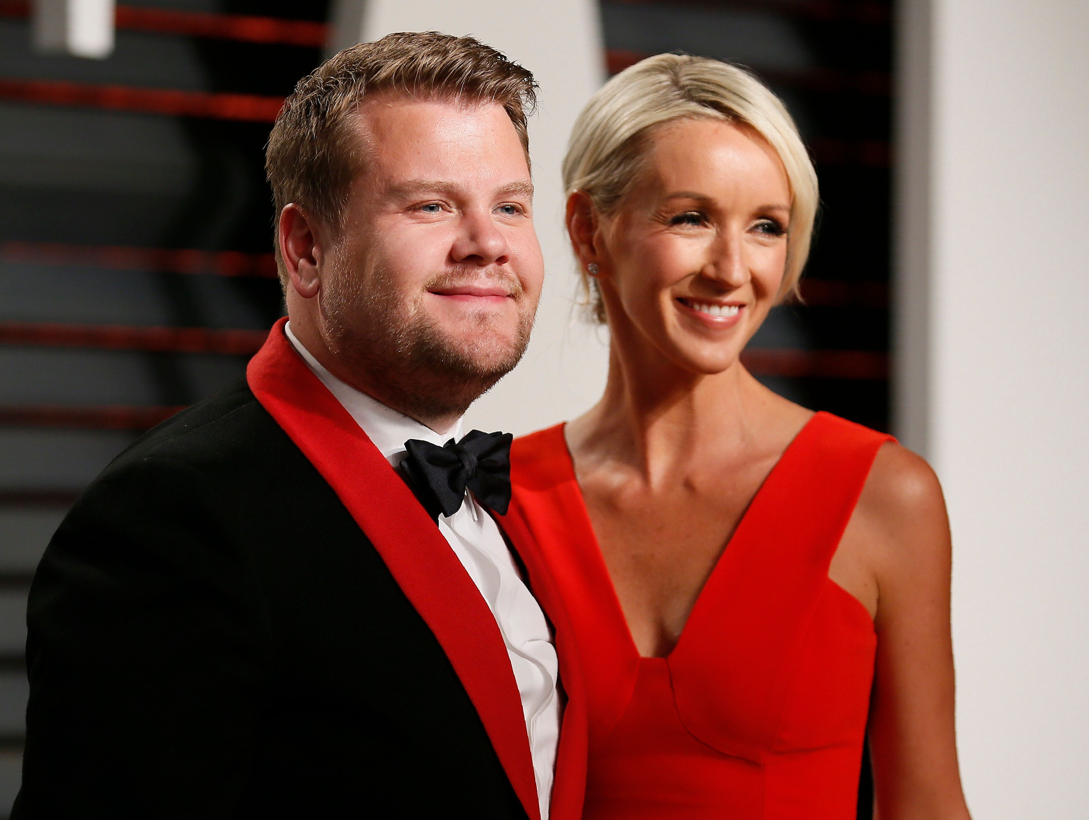 89th Academy Awards - Oscars Vanity Fair Party - Beverly Hills, California, U.S. - 26/02/17 – Comedian James Corden and Julia Carey. REUTERS/Danny Moloshok