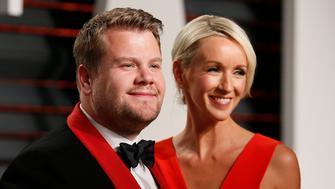 89th Academy Awards - Oscars Vanity Fair Party - Beverly Hills, California, U.S. - 26/02/17 – Comedian James Corden and Julia Carey. REUTERS/Danny Moloshok
