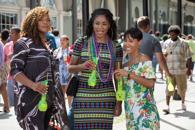Tiffany and Jada as seen in 'Girls Trip', alongside co-star Queen