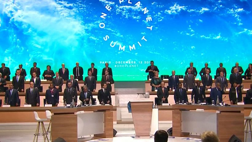 "A series of initiatives were unveiled at the ""One Planet Summit"" held in Paris"