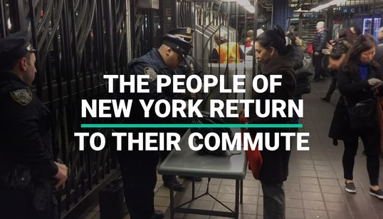 The People of New York Return To Their Commute After