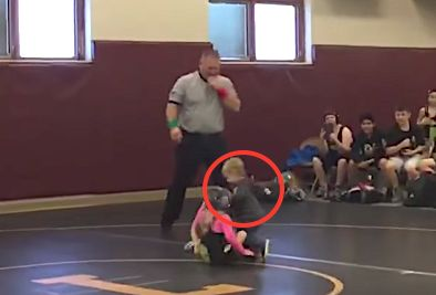 Toddler Mistakes Sister's Wrestling Match For Real Fight, Runs In To Save Her
