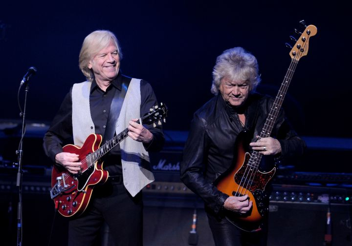 Justin Hayward and John Lodge of the Moody Blues perform in Los Angeles n 2013.