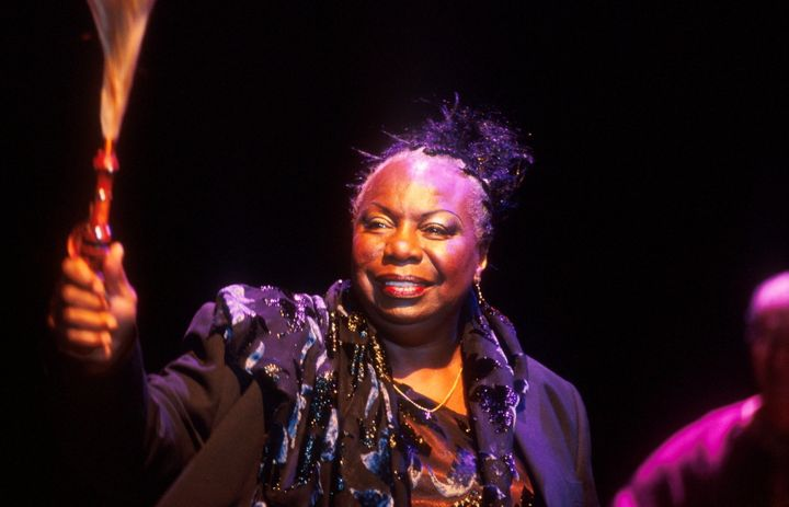 Nina Simone performs at Bishopstock Music Festival in 2001.