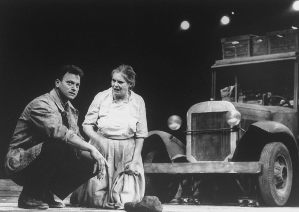 """Gary Sinise and Lois Smith star in a 1991 television production of """"The Grapes of Wrath."""""""
