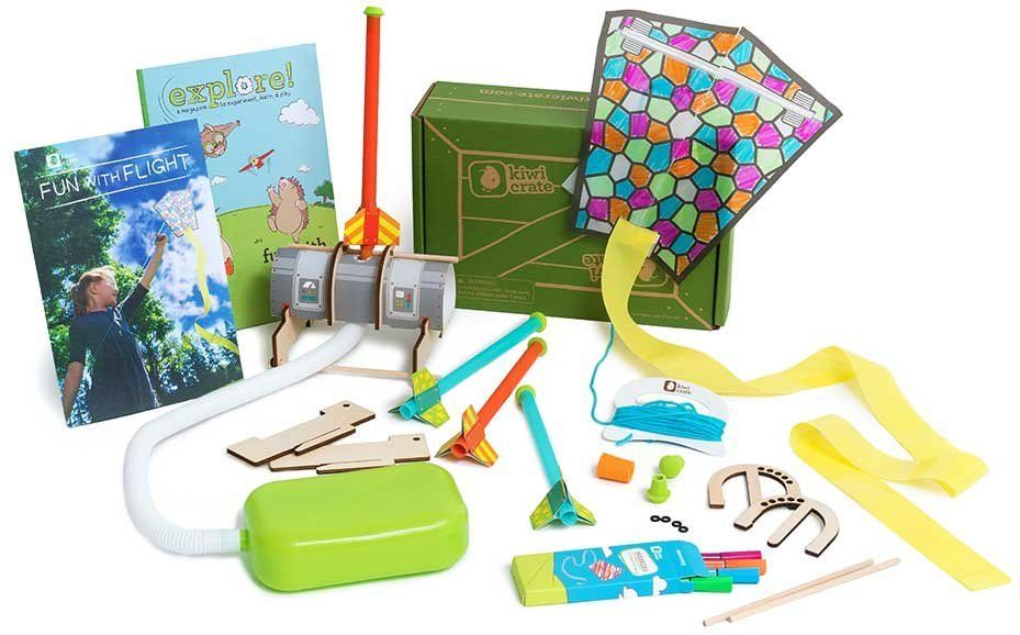 Kiwi Crate is a monthly box that encourages kids to appreciate science, technology, engineering, art and math.
