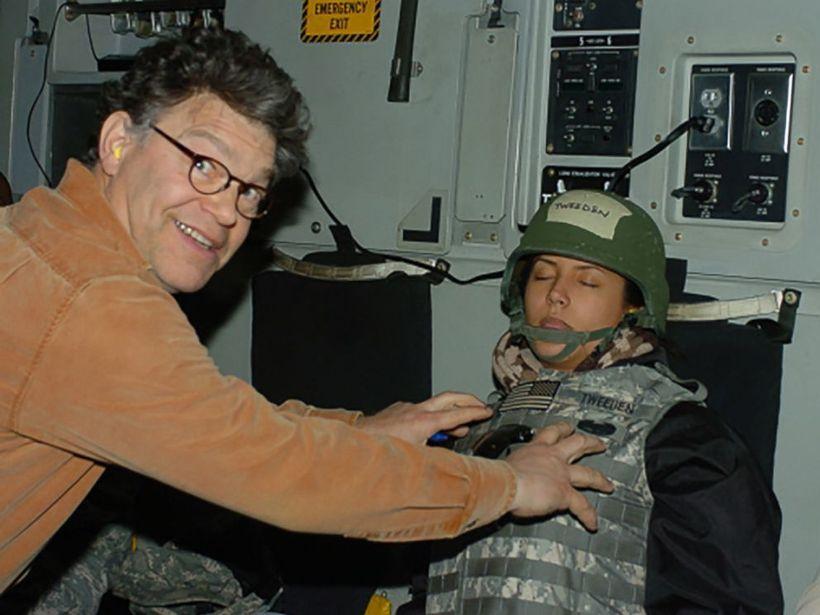 Al Franken being decidedly not funny.