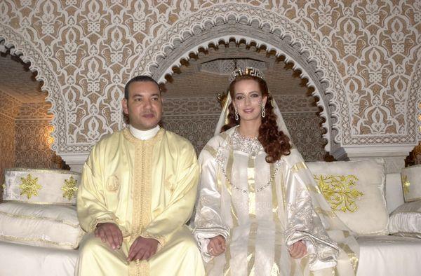 "Princess Lalla Salma wore a white caftan -- <a href=""http://heymorocco.com/culture/wedding-traditions-morocco.aspx"" target=""_"