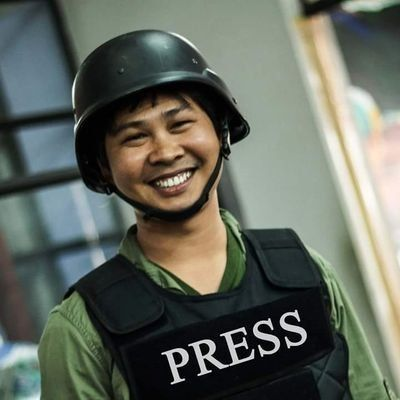 Reuters reporter Wa Lone, pictured above, was arrested in Myanmar with his colleague Kyaw Soe Oo.