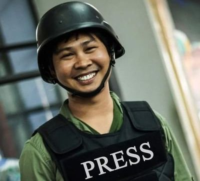 Reuters reporter Wa Lone, pictured above, was arrested inMyanmar with his colleagueKyaw Soe Oo.