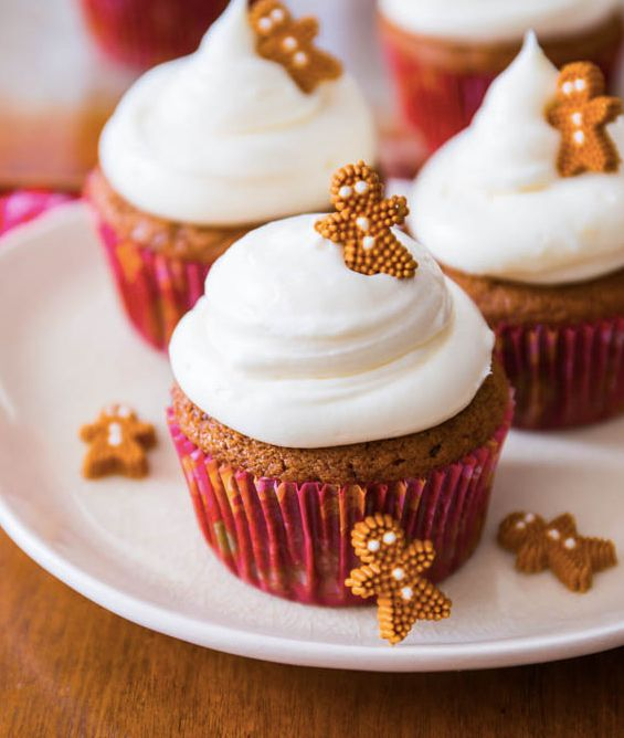 "<strong>Get the <a href=""http://sallysbakingaddiction.com/2013/12/08/gingerbread-cupcakes/"" target=""_blank"">Gingerbread Cupca"